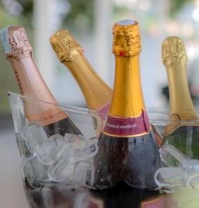 champagne en eten